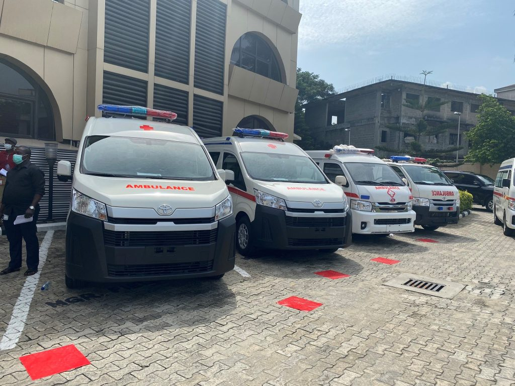 Donation of Ambulances to the Government